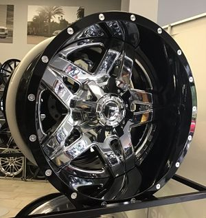 "BRAND NEW! 20x12 Fuel D243 Chrome Gloss Black Rims Wheels 8x170 Ford F-250 F350 2-Piece Offroad BIG LIP! 20"" XD Moto for Sale in Tampa, FL"