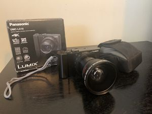 LUMIX LX10 with wide angle lens and carrying case for Sale in Downey, CA