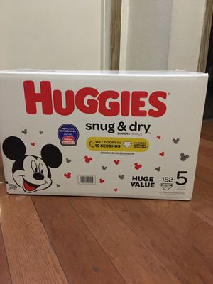 HUGGIES SIZE 5 152 pañales for Sale in Paramount, CA