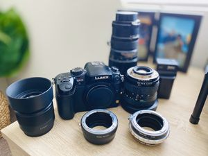 Panasonic gh3 w/ lenses & accessories for Sale in Roseville, CA