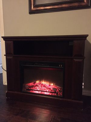 Electric fireplace w/tv stand for Sale in Dallas, TX