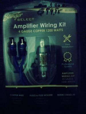 Amplifier wiring kit for Sale in San Francisco, CA