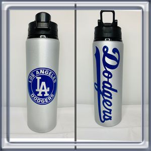 New Dodgers Aluminum Water Bottles with Snap Lids - 25 oz for Sale in Rosemead, CA