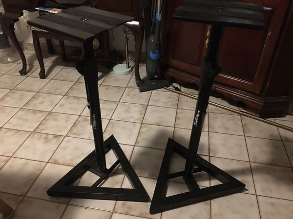 Accuracy pro audio two stands perfect new condition mint condition selling for $80 for both