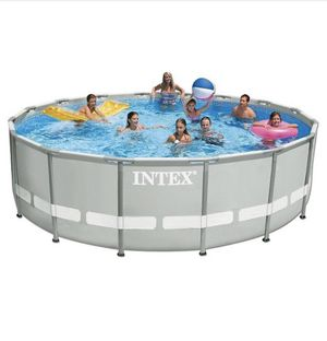 """Intex 15' x 48"""" Ultra Frame Above Ground Pool with Filter Pump for Sale in Herndon, VA"""