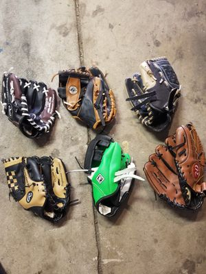 Youth baseball gloves $15 each for Sale in Aurora, CO