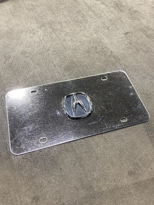 Acura plate (chrome) for Sale in Huntersville, NC