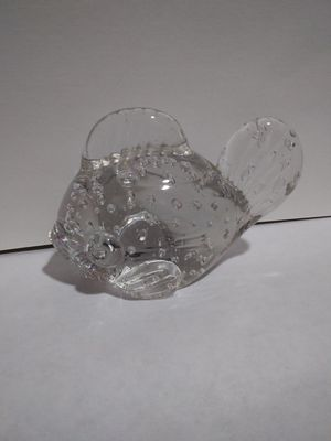 Murano Controlled Bubble Paperweight Fish for Sale in San Angelo, TX