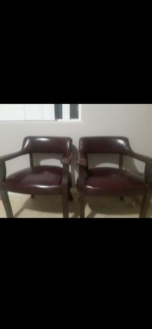 2 nice leather chairs for $200 for Sale in Fairview, OR