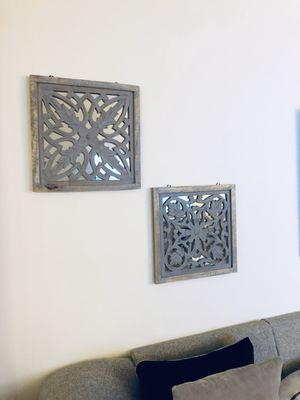 Damask Wooden Framed Mirror Wall Decor for Sale in Arlington, VA