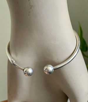 """Vintage 925 Sterling Silver Cuff Bracelet 7"""" 2MM Classic Design for Sale in Mountain View, CA"""