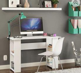 Boahaus Multipurpose Computer Desk, 2 Bookcases, Modern White Finish for Sale in Cherry Hill,  NJ