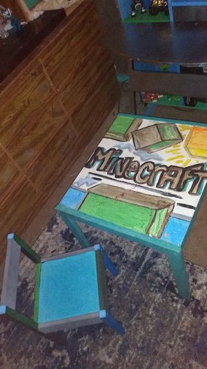MINECRAFT custom kids table & chair for Sale in Spring Valley, CA