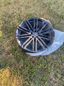 All black 22inch rims for Dodge Charger or 300 for Sale in San Antonio,  TX
