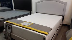 Queen bed frame with regular mattress included for Sale in Glendale, AZ