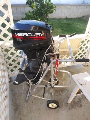 1997 Mercury 15 horsepower 2-stroke outboard boat motor $950 for Sale in San Diego, CA