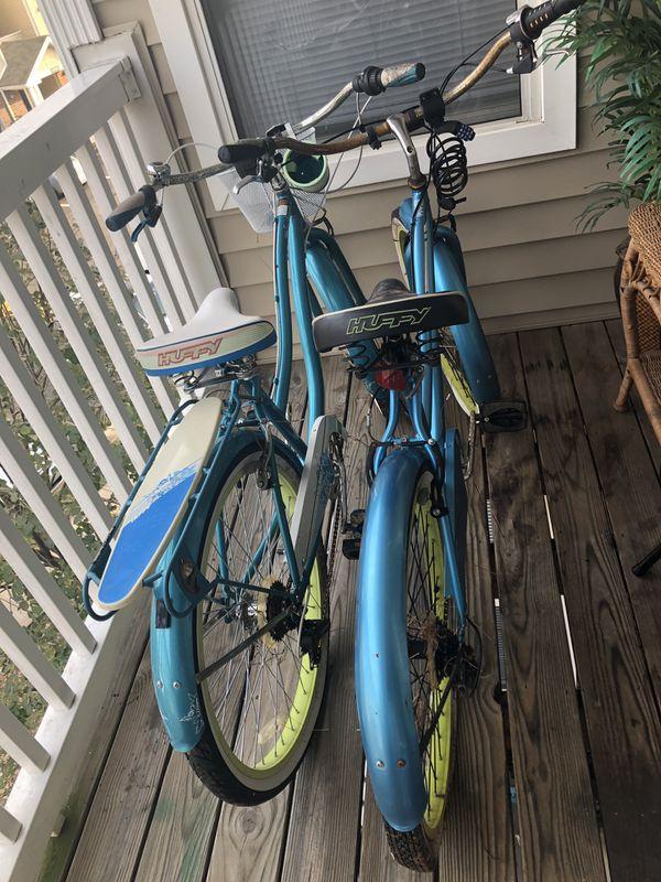 2 huffy beach bikes