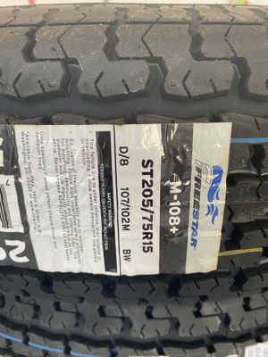 ST205/75r15 new trailer tires for Sale in Moreno Valley, CA
