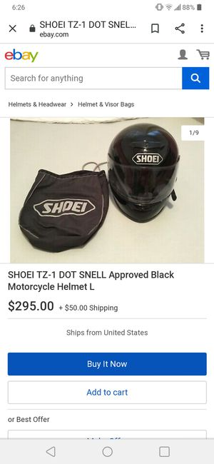 Shoei helmet (MEDIUM)DOT for Sale in Palmdale, CA