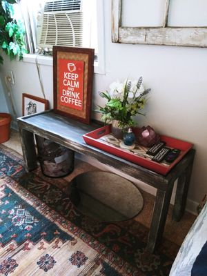 Rustic Wooden Bench Seat / Coffee Table for Sale in Joliet, IL