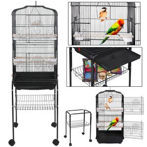 59'' Bird Cage Large Wrought Iron Cage for Cockatiel Sun Conure Parakeet Finch Budgie Lovebird Canary Medium Pet House with Rolling Stand for Sale in Buena Park, CA