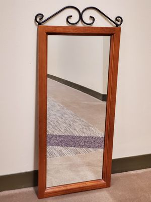WOOD-FRAMED WALL MIRROR - firm price. for Sale in Arlington, VA