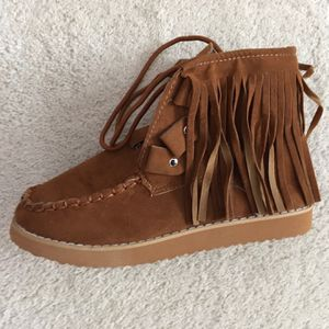 Retro Medieval Suede Faux Leather Tassel Boots for Sale in Mackinaw, IL