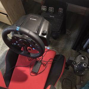 Logitech G923 Full Sim Setup for Sale in Sterling, VA