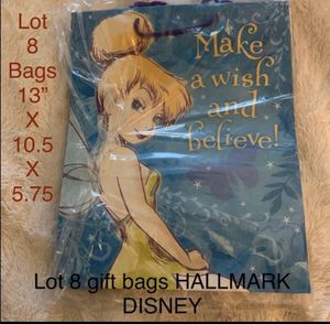 Lot 8 Hallmark Disney Tink Gift Bags for Sale in Victoria, TX
