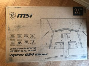 "Msi Curved Gaming Monitor Optix G24 Series (144hz, 24"" display, 1ms Response Time) for Sale in Watauga, TX"
