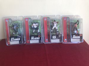 Football action figures $10 takes all for Sale in San Jose, CA