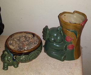 2 piece elephant plant pot bundle for Sale in Norwich, CT