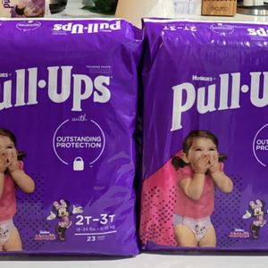 Huggies Pull-Ups Learning DesignsGirls' Training Pants, 2T-3T for Sale in Los Angeles, CA