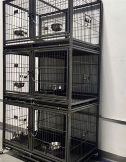 ✅3-level stacked HD dog kennel crate cage with removable divider, bowls lockable wheels, sturdy escape proof 🗝 🔒High quality ⭐️ factory sealed box for Sale in The Bronx,  NY