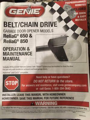 Genie 850 garage door opener for Sale in Fuquay-Varina, NC