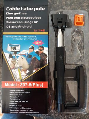 New expandable black handle selfie stick charge free for Sale in Lancaster, OH