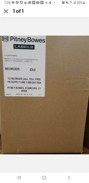Direct Thermal Labels Compatible Pitney Bowes 674-0 Continuous Printers 3 rolls for Sale in Clearwater, FL