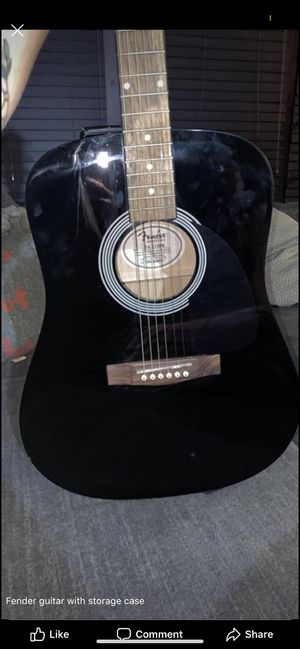 Black fender acoustic guitar for Sale in North Ridgeville, OH