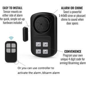 Outdoor Door Alarm with Remote Keypad, Waterproof IP67,In ground Pool Door Alarm,Gate Alarm Sensor, 140 dB Super Loud, Prying Door Alarm,Entrance Aler for Sale in Bellflower, CA