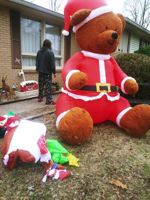 Huge Christmas decoration air powered teddy bear for Sale in Hermitage, TN