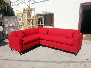 NEW 7X9FT JEOPARDY LIPSTICK FABRIC SECTIONAL COUCHES for Sale in Moreno Valley, CA