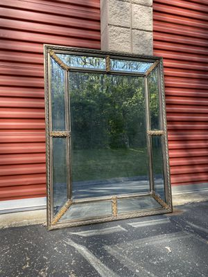 Leaded beveled mirror antique gold 37 X 49 for Sale in Nashville, TN