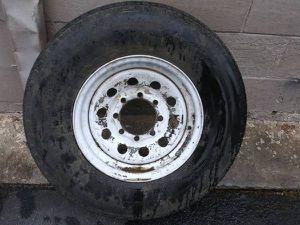 16 inch 8 lug steel rim and tire. Trailer, Dodge, Ford, Chevy, spare for Sale in Montebello, CA