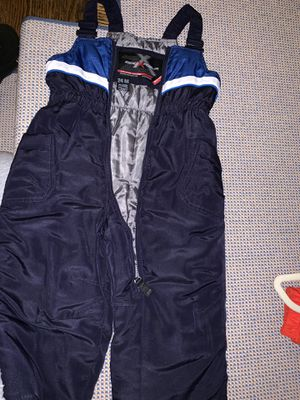 Size 24m snow pants with bib for Sale in Weston, MA