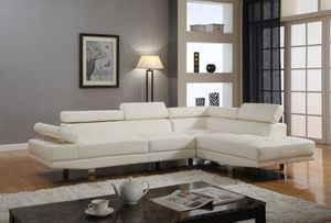 White Modern Leather Sectional *BRAND NEW* for Sale in Silver Spring, MD