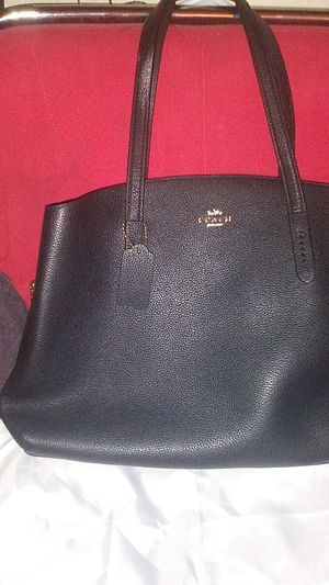 Coach Women's Polished Pebble Leather Central Tote With Zip - Black for Sale in Phoenix, AZ