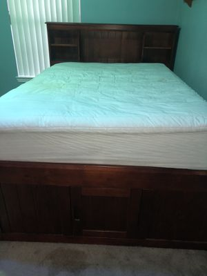 Full storage wood bed with a twin pullout bed for Sale in Pensacola, FL