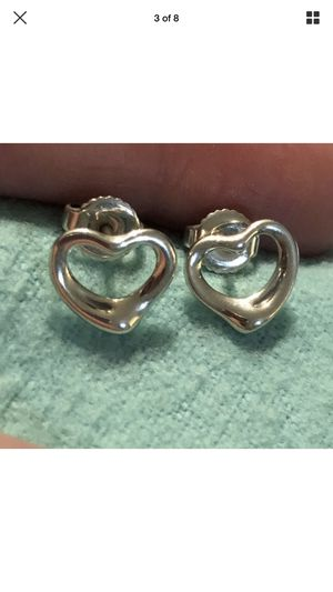 Authentic Tiffany & Co. Elsa Peretti Open Heart Earrings Sterling Silver ICONIC! for Sale in Pinecrest, FL