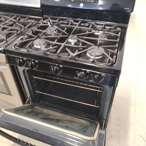 Ge Gas Stove Stainless Steel Used Good Condition 90day's Warranty for Sale in Washington, DC