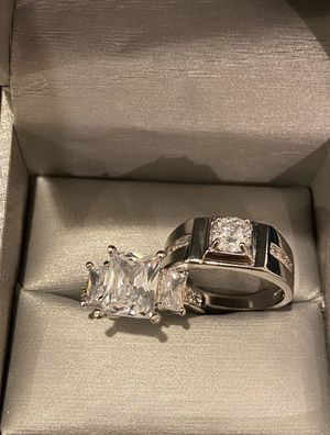 Stamped 925 Sterling Silver Luxurious Matching Ring Set- Code SRL007 for Sale in Houston, TX